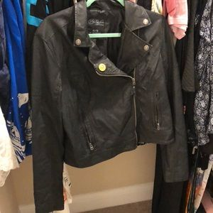 Fax leather jacket